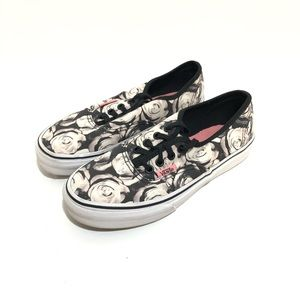 VANS Girl's Floral Sneakers Size 2